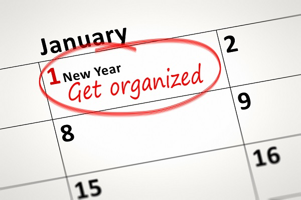 An image of a calendar detail shows first of January with the te